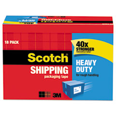 """Scotch® 3850 Heavy-Duty Packaging Tape Cabinet Pack, 1.88"""" x 54.6yds, 3"""" Core, 18/Pack"""