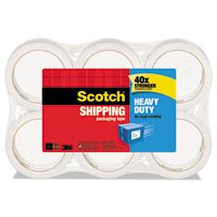 "Scotch® 3850 Heavy-Duty Tape Refills, 1.88"" x 54.6yds, 3"" Core, Clear, 6/Pack"