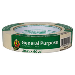 "Duck® General Purpose Masking Tape, 0.94"" x 60 yds, Beige, 36/Pack"