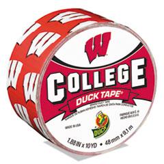 """Duck® College DuckTape, University of Wisconsin Badgers, 1.88"""" x 10 yds, 3"""" Core"""