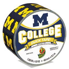 "Duck® College DuckTape, University of Michigan Wolverines, 1.88"" x 10 yds, 3"" Core"