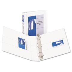 "Avery® Durable View Binder w/Nonlocking EZD Rings, 11 x 8 1/2, 1 1/2"" Cap, White"