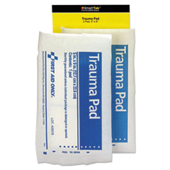 First Aid Only™ SmartCompliance Refill Trauma Pad, 5 x 9, White, 2/Bag