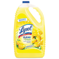 LYSOL® Brand Clean and Fresh Multi-Surface Cleaner, Sparkling Lemon and Sunflower Essence, 144 oz Bottle, 4/Carton