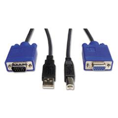 Tripp Lite KVM Cable Kit, 6 ft, USB/HD15, Gray