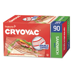 "Diversey™ Cryovac Sandwich Bags, 1.15 mil, 6.5"" x 5.88"", Clear, 1080/Carton"