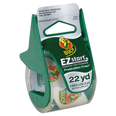 """EZ Start Premium Packaging Tape with Dispenser, 1.5"""" Core, 1.88"""" x 22.2 yds, Clear"""