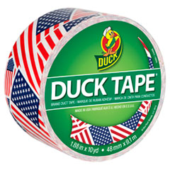 """Duck® Colored Duct Tape, 9 mil, 1.88"""" x 10 yds, 3"""" Core, US Flag"""