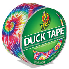 """Duck® Colored Duct Tape, 9 mil, 1.88"""" x 10 yds, 3"""" Core, Love Tie Dye"""