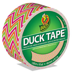 """Duck® Colored Duct Tape, 9 mil, 1.88"""" x 10 yds, 3"""" Core, Zig Zag"""
