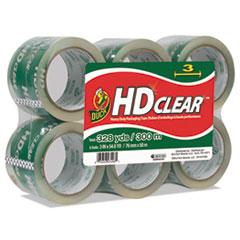 "Duck® Heavy-Duty Carton Packaging Tape, 3"" x 55yds, Clear, 6/Pack"