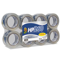 """Duck® HP260 Packaging Tape, 1.88"""" x 60yds, 3"""" Core, Clear, 8/Pack"""