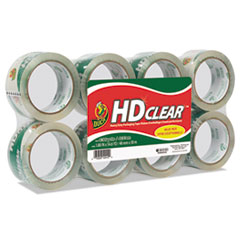 """Duck® Heavy-Duty Carton Packaging Tape, 1.88"""" x 55 yards, Clear, 8/Pack"""