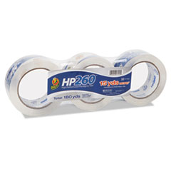 """HP260 Packaging Tape, 3"""" Core, 1.88"""" x 60 yds, Clear, 3/Pack"""