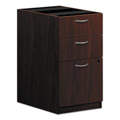 HON® BL Laminate Three Drawer Pedestal File, 15 5/8w x 21 3/4d x 27 3/4h, Mahogany
