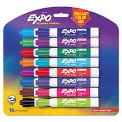Low Odor Dry Erase Vibrant Color Markers, Broad Chisel Tip, Assorted Colors, 16/Set