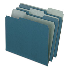 Earthwise by Pendaflex Recycled File Folders, 1/3 Top Tab, Letter, Blue, 100/BX