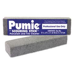 Pumie® Scouring Stick, Pumie, Gray Pumice, 5 3/4 x 3/4 x 11/4, 12 per Box