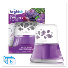 BRIGHT Air® Scented Oil Air Freshener Sweet Lavender and Violet, 2.5 oz, 6/Carton
