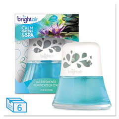 BRIGHT Air® Scented Oil Air Freshener, Calm Waters and Spa, Blue, 2.5 oz, 6/Carton