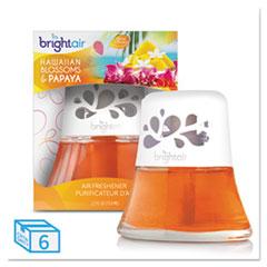 BRIGHT Air® Scented Oil Air Freshener, Hawaiian Blossoms and Papaya, Orange, 2.5 oz, 6/Carton