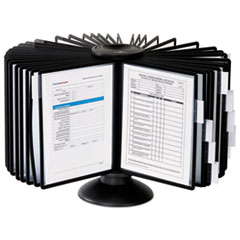 Sherpa 40-Panel Carousel Reference System, 80 Sheet Capacity, Black