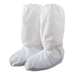 DuPont® Tyvek IsoClean High Boot Covers with PVC Soles, White, Large, 200/Carton