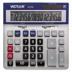 Victor® 6700 Large Desktop Calculator, 16-Digit LCD