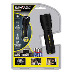 Rayovac® LED Aluminum Flashlight, 3 AAA, Black
