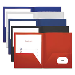 Universal® Two-Pocket Plastic Folders Thumbnail