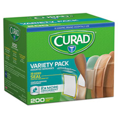 Curad® Variety Pack Assorted Bandages, 200/Box