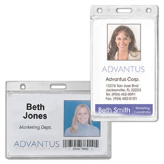 Advantus Frosted Rigid Badge Holders