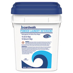 Boardwalk® Laundry Detergent Powder, Crisp Clean Scent, 18  lb Pail