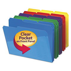 Smead® Poly Colored File Folders With Slash Pocket Thumbnail