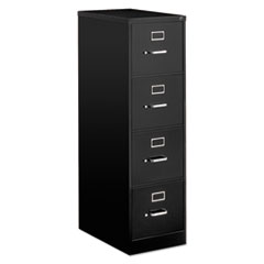 Four-Drawer Economy Vertical File Cabinet, Letter, 15w x 25d x 52h, Black
