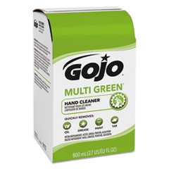 GOJO® MULTI GREEN Hand Cleaner 800 mL Bag-in-Box Dispenser Refill, Citrus, 12/Carton