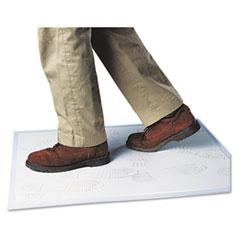 Crown Walk-N-Clean Dirt Grabber Mat w/Starter Pad, 31 1/2 x 25 1/2, Gray