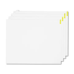 Crown Walk-N-Clean Mat 60-Sheet Refill Pad, 30 x 24, 4/Carton, White