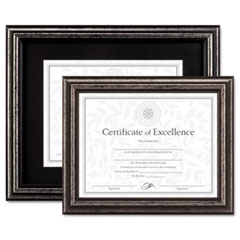 DAX® Antique Brushed Charcoal Wood Document Frame