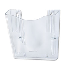 DocuPocket Portrait Wall File Pocket, A4/Magazines/Portfolios, Clear