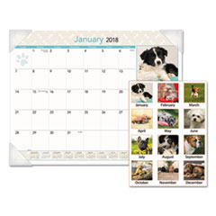 AT-A-GLANCE® Puppies Monthly Desk Pad Calendar Thumbnail