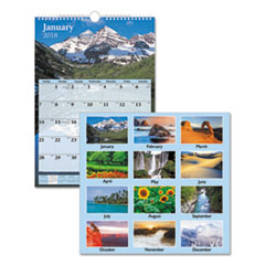 Scenic Monthly Wall Calendar, 12 x 17, 2018