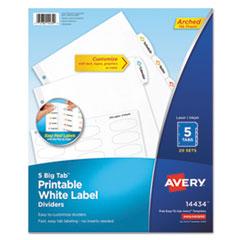 Avery® Big Tab(TM) Printable White Label Tab Dividers