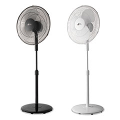 "Alera® 16"" 3-Speed Oscillating Pedestal Fan"
