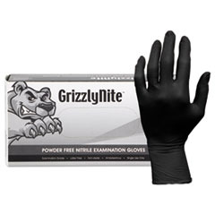 HOSPECO® ProWorks GrizzlyNite Nitrile Gloves, Black, Small, 1000/CT