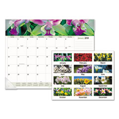 Floral Panoramic Desk Pad, 22 x 17, Floral, 2018