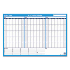 AT-A-GLANCE® 90/120-Day Undated Horizontal Erasable Wall Planner, 36 x 24, White/Blue,