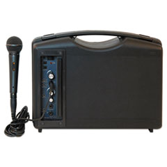 AmpliVox® Bluetooth Audio Portable Buddy with Wired Mic, 50W, Black