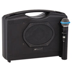 AmpliVox® Bluetooth Audio Portable Buddy with Wireless Handheld Mic, 50W, Black