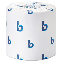 Boardwalk® Office Packs Standard Bathroom Tissue, Septic Safe, 2-Ply, White, 350 Sheets/Roll, 48 Rolls/Carton